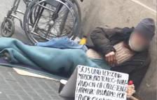 Acaba con la pierna amputada después de ser obligado a pedir en la calle 18 horas al día