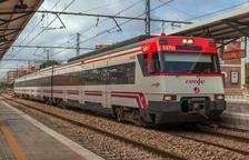 Imatge d'un tren de Rodalies de Renfe.