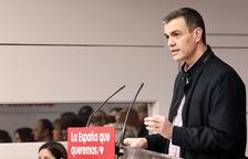 Pedro Sánchez mostra a seva recepta a Catalunya: «Llei, diàleg i polítiques reals»