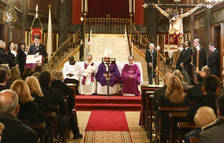 Una imagen de archivo de la inauguración de la escalera del Sant Crist.