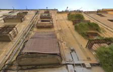 S'ensorra part del sostre d'un edifici de Valls