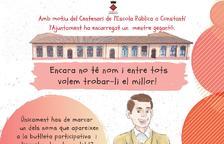 Constantí busca nombre para el nuevo gegantó que reproducirá la figura de un maestro de escuela