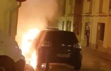 Dos incendios marcan la noche del viernes en Valls