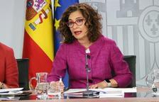 La portavoz del gobierno español, María Jesús Montero, en rueda de prensa después del Consejo de Ministros
