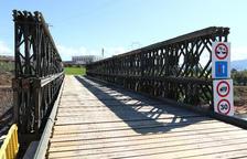 L'Exèrcit finalitza la instal·lació del pont de Montblanc