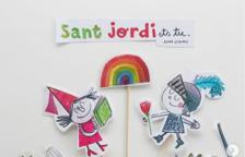 Crear un puestecito de libros en casa y hacer rosas de papel, ideas para este Sant Jordi