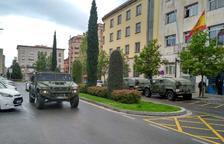 L'exèrcit de terra desinfecta la Policia Nacional de Reus i Tortosa