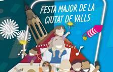 El cartel de Sant Joan de Valls recoge todos los elementos que conformarán una Fiesta Mayor diferente
