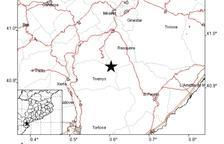 Se registra un seísmo de 2,4 grados con epicentro en la Ribera de Ebro