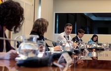 Sánchez i els ministres, durant la reunió