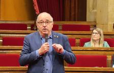 El conseller Bargalló durant la compareixença al ple del Parlament de Catalunya.