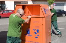 La recollida selectiva de roba es redueix un 12% a Tarragona durant el confinament