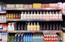 Alguns dels sabons que comercialitza aquesta cadena de supermercats.