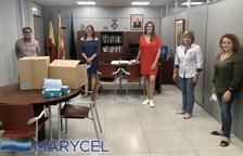 L'empresa Marycel dona 2.000 mascaretes i 240 pantalles protectores a l'Ajuntament de Roda de Berà