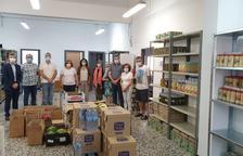 Els treballadors d'Ercros donen 7.000 kg d'aliments per als afectats per la Covid