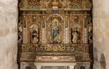 El Departament de Cultura restaura el retablo de la purísima de la iglesia del Real Monasterio de Santes Creus