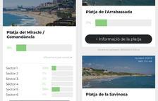 L'app TGN Emergències ja informa de l'ocupació de les platges de Tarragona