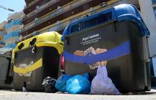Calafell recoge en un solo fin de semana doce toneladas de basura fuera de los contenedores