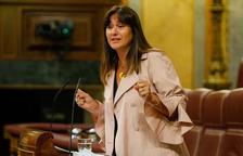 La portavoz de JxCat en el Congreso, Laura Borràs, durante su intervención en el Congreso este 3 de junio del 2020.