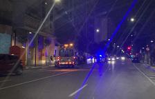 L'ambulància, en el lloc de l'accident.