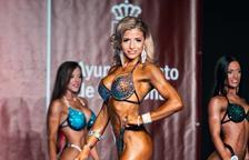 Raquel Recasens durant una competició.