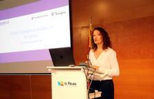 La consellera de Turisme de Tarragona, Laura Castel, durant la presentació del pla de contingència turístic