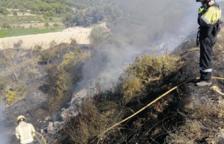 Controlat un incendi de vegetació a Vilalba dels Arcs