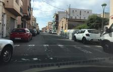 Un dels passos de vianants del barri completament esborrat.