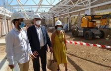 Gallego, Vilella i Pellicer, ahir en una visita als treballs.