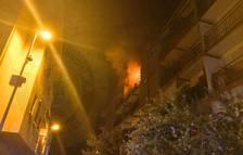Les flames sortint del pis del Vendrell.