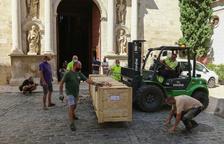 Valls rep 33 tubs de la façana del nou orgue de l'església de Sant Joan