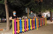 Veïns de Bonavista participen en l'arranjament de la plaça de la Font