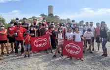 Los Minyons de l'Arboç hacen una salida al Castellot de Castellví de la Marca