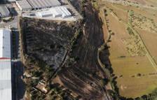L'incendi al polígon de Riu Clar va cremar 8,5 hectàrees de vegetació urbana