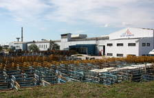 Pla general de la fàbrica de Saint-Gobain a l'Arboç.
