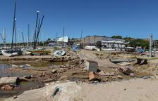 La playa Larga, castigada una vez más por las lluvias y el mal tiempo