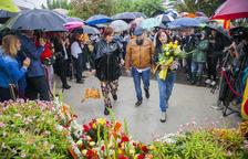 L'ofrena floral a Rafael Casanova es farà per torns i dividida per sectors