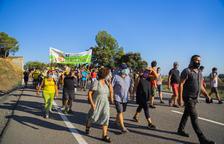 Tallen l'N-420 per rebutjar el parc eòlic Lo Vedat del Pany a Riudecols