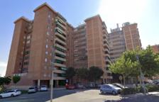 Imatge de la façana del bloc Chile, on dissabte van intentar ocupar un dels pisos.