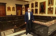 L'alcalde de Reus, Carles Pellicer, al palau municipal, ahir.