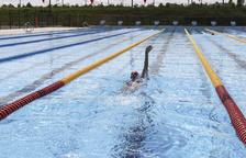 La piscina olímpica de l'Anella estará climatizada a principios de 2021