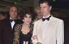 L'artista Gina Lollobrigida amb l'empresari Javier Rigau.