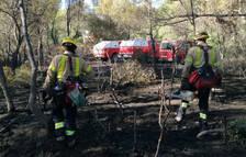 Bombers da por controlado el incendio forestal en Tortosa que ha quemado 2,43 hectáreas