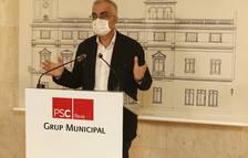 El portavoz del grupo del PSC, Andreu Martín, ayer.