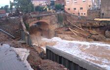 El arrastre de 43.000 árboles en el Francolí, principal causa de los daños de la riada