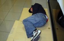Imatge d'arxiu d'una persona sense llar.