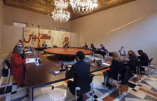 Plano general del Consell Executiu del Govern en Palau.