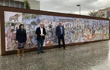 La història de la Canonja en un mural gegant de Pilarín Bayés
