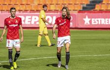 Pedro Martín, después de marcarle el gol al Olot que ayudó al Nàstic a sumar los tres puntos.