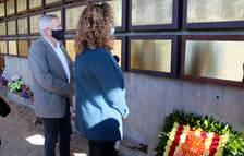 Justícia homenajea a 40 víctimas de la Batalla del Ebro en un acto sin familiares